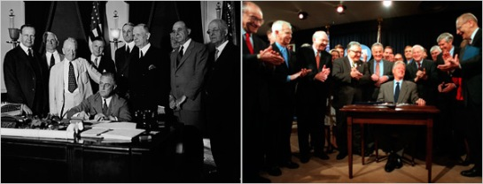 goodman-2009-nyt-pic-of-fdr-and-clinton-signing-gs-and-glb