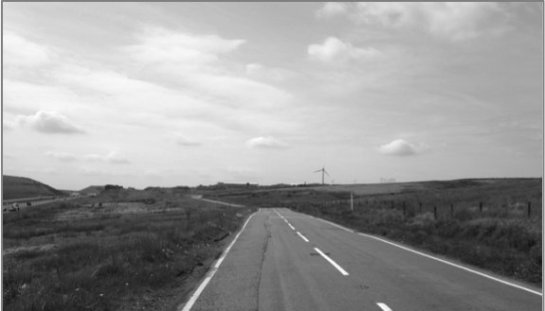 The road to a meat-processing factory in South Wales